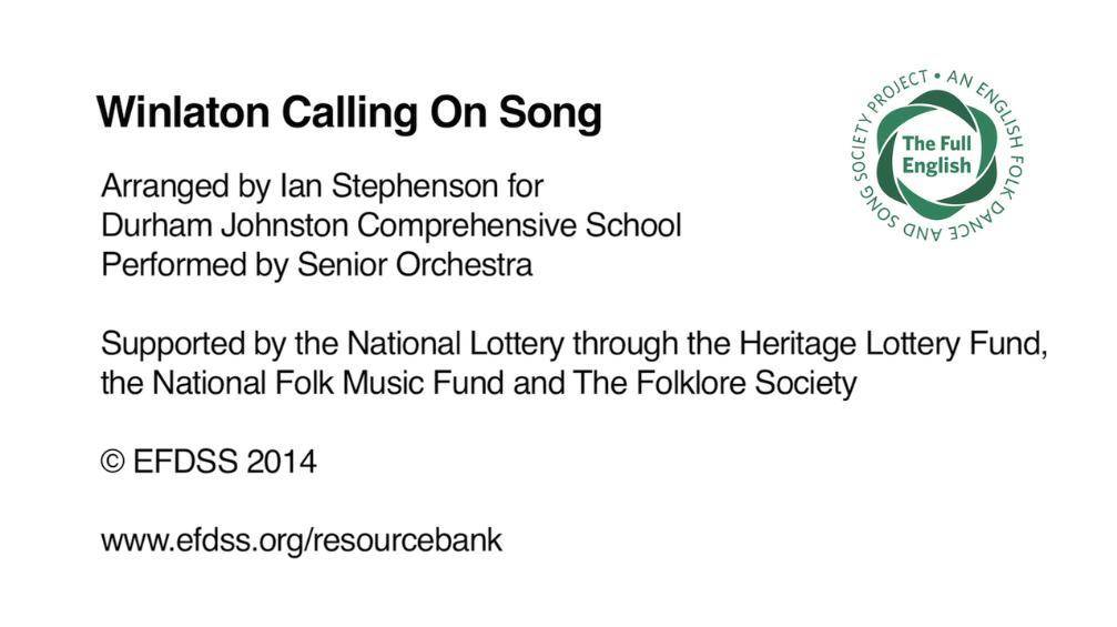 Winlaton Calling on Song - Durham Johnston Comprehensive School