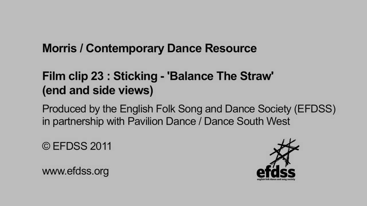 Film 23: Sticking Balance The Straw (also known as Balancey Straw)